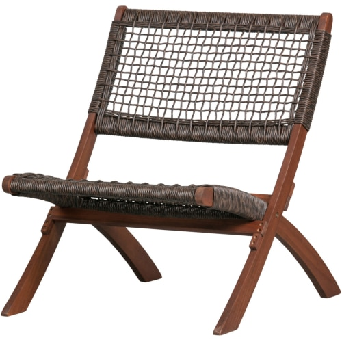 Woood Lois -tuoli, tumma ruskea